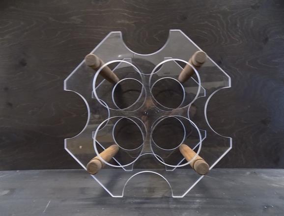 Portabottiglie andromeda in metacrilato trasparente da 08 mm
