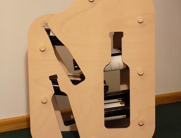 Portabottiglie GIOVE in legno di faggio multistrati finitura a olio