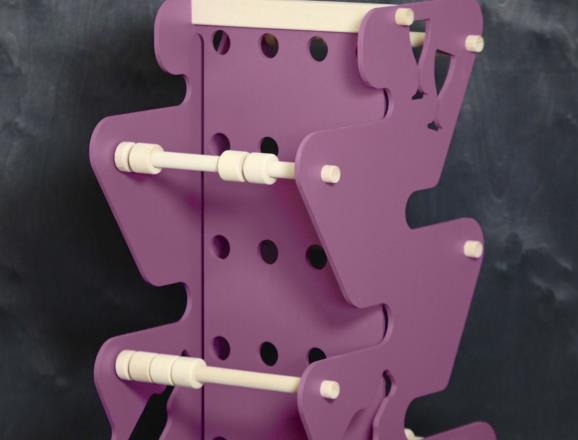 Portabottiglie MARTE da 20 botiglie in MDF colorato in pasta 12 colori - 8 mm