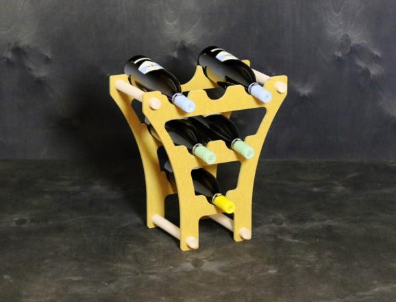 Portabottiglie ORIONE BETA con lati in MDF colorato in pasta 12 colori - 8 mm