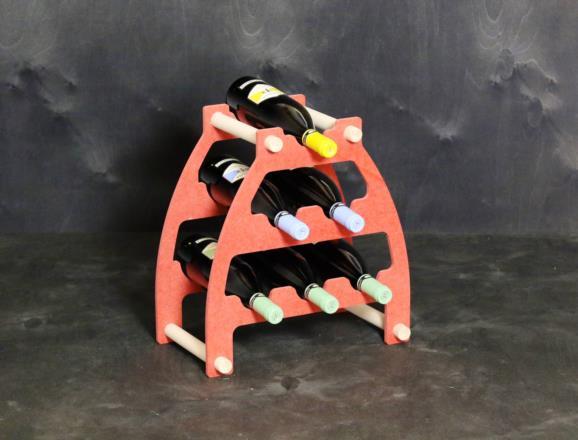 Portabottiglie ORIONE ALFA con lati in MDF colorato in pasta 12 colori - 08 mm